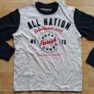 Parish Nation crew neck long sleeve T-shirt Red White Blue raglan tee shirt S