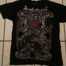 APOKOLYPSE Black short sleeve T-shirt Vintage style short sleeve Tee XL