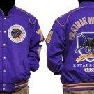 Praire View A & M University long sleeve jacket Letterman Coat M-5X