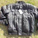 Black long sleeve flight casual military inspired Jacket Mens black jacket L NWT