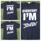 EVERY DAY IM SHUFFLIN Black short sleeve T-shirt Shufling T-shirt  S-2X