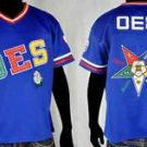 Order of the Eastern Star O.E.S Blue Football Jersey S-3X Eastern Star Top S-3X