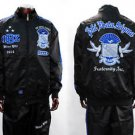Phi Beta Sigma Sweat suite Phi Beta Sigma Black Jogging Gym warm up set L-4XL