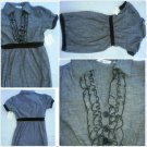 Derek Heart Short sleeve Black Dress Lady's black Cotton blend casual dress L