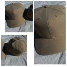Mens Womens Light Brown Khaki baseball Cap Hat Solid color fitted baseball cap