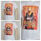 Miami Heat Dwyane Wade short sleeve T-shirt Slam Magazine Cover D.Wade L NWT