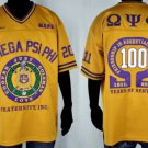 Omega Psi Phi Gold short sleeve football jersey 100 year centennial jersey NEW