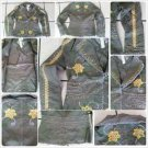 Celeb Style Womens One Button Cotton Blazers Olive Green floral print jacket M