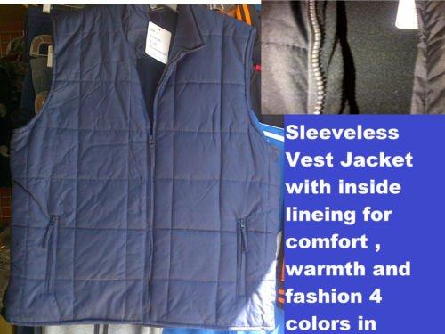 Navy Blue sleeveless down vest Sleeveless outdoor Vest Casual style Vest S-3X