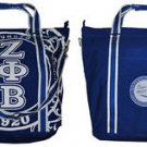 ZETA PHI BETA BLUE CANVAS BAG GYM BAG TOTE YOGA SPORTS SORORITY GYM BAG PURSE