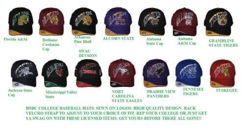 Tuskegee Golden Tigers Baseball Cap Hat HSBC Baseball Cap Hat Adjustable SWAC