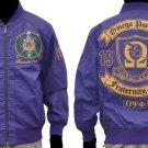 Omega Psi Phi Leather Fraternity Jacket Purple Omega Psi Phi Jacket Coat M-5X #2