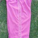 Women's Pink White Athletic shorts Gym Capri's Crops Work Out Gym Capri shorts S