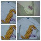 Los Angeles Laker's Purple Gold White long sleeve t-shirt UNK Lakers T- shirt M