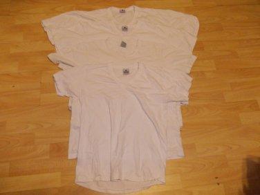 PRO CLUB PRO 5 White short sleeve V neck Set 4pack M,L,XL USED V NECK T SHIRTS