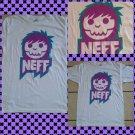 NEFF White Short sleeve T-Shirt Mens short sleeve skaterter T shirt  L