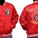 KAPPA ALPHA PSI Satin Jacket PHI NU PI NUPE RED SATIN Fraternity JACKET M-4X