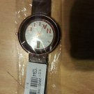 Brown Leather Band  Men Boy's Sports Quartz Watch White face wrist watch NEW