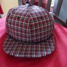 Red Black White Houndstooth Plaid Baseball Cap Hat Unisex plaid design hat