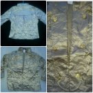 Womens long sleeve dress jacket Light Tan long sleeve evening jacket top S NEW