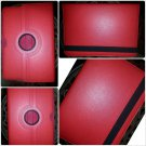 360 Rotating Case Cover Samsung Galaxy Tab 2 10.1 inch tablet P5100 P5110 RED