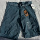 Ash Blue cargo shorts Polyester Mens Blue cargo casual walking shorts 30W