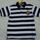 Franky Max Black White short sleeve polo shirt Mens stripe polo shirt L-2X