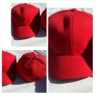 Mens Womens Red baseball Cap Hat Solid color fitted baseball cap 7-7 5/8
