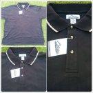 Mens Black polo shirt short sleeve cotton blend short sleeve polo shirt  4XL