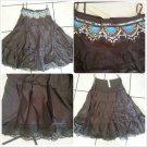 Womens Dark brown Skirt  Women's sequence beeded dress casual skirt size S
