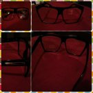 Womens Vintage 80's style glasses Black square clear LENS SUN GLASSES