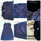 Womens Dark Blue Cotton Sleeveless Dress Lady's Spaghetti strap casual dress 10
