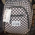 Black White checker back pack by PRO CLUB black back pack travel hiking bag