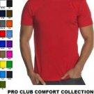 YELLOW SHORT SLEEVE T SHIRT by PRO CLUB COMFORT CREW NECK T SHIRT S-5X 6PACK