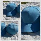 Mens Womens Light Blue baseball Cap Hat Solid color fitted baseball cap 7-7 5/8