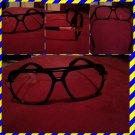 Mens Womens Unisex  80's Gazelle style glasses Black square LENS SUN GLASSES