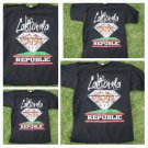 Black California Republic Diamond T-shirt Black short sleeve Cali Tee S-2X