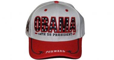 President Barack Obama White Red baseball cap hat 44th President Baseball Cap #2