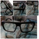 Mens Womens Unisex sunglass 80's Nerd style Black square LENS SUN-GLASSES