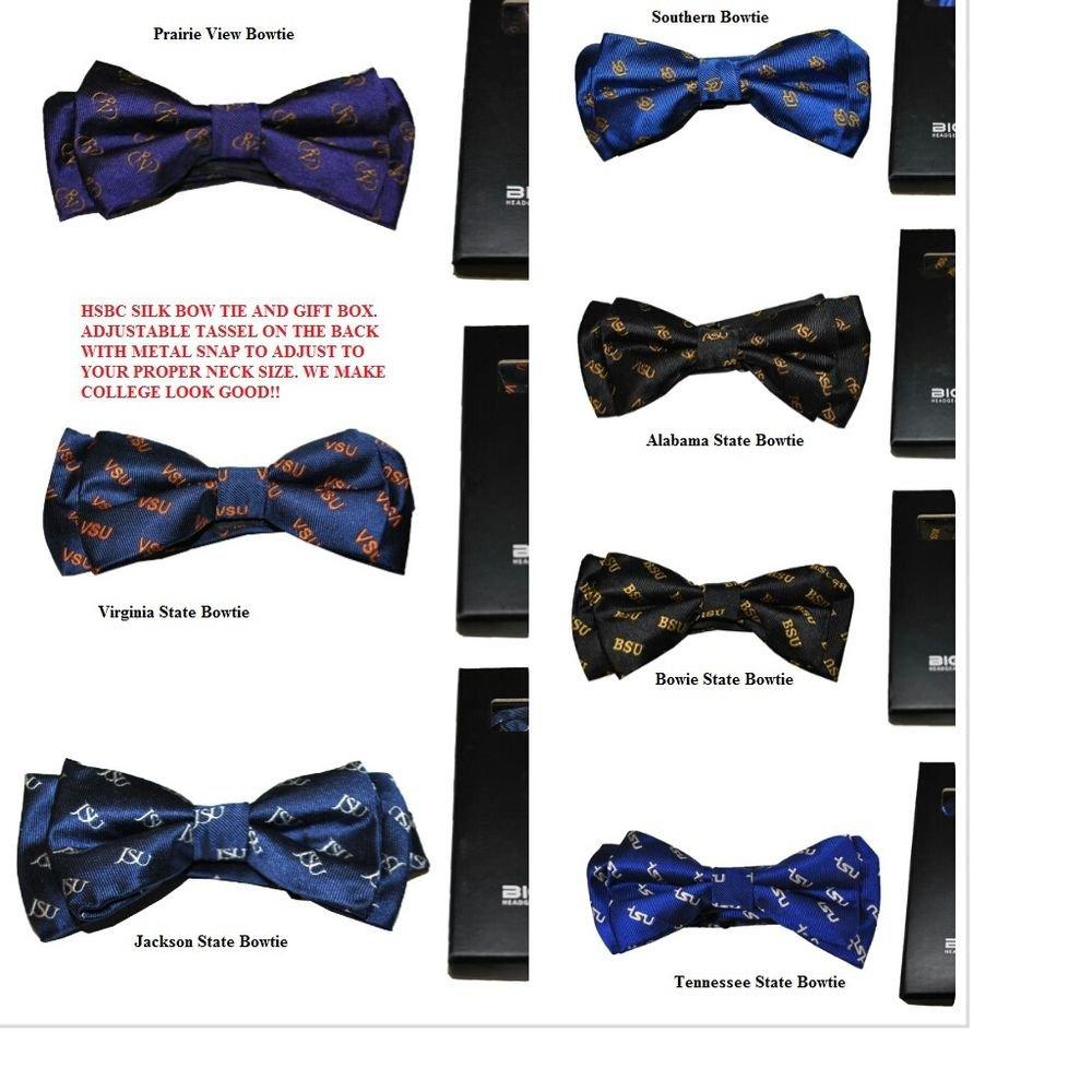Virginia State  Silk Bow Tie 100% HANDMADE JACQUARD SILK  Gift Box HSBC  NEW