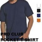 NAVY BLUE SHORT SLEEVE POCKET T-SHIRT by PRO CLUB SHORT SLEEVE POCKET TEE S-5XL