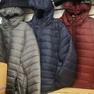 Black Bubble Hoodie Jacket Long Sleeve Puffer Jacket Mens Winter Coat S-3X