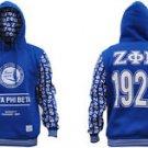 ZETA PHI BETA BLUE Pullover Hoody Hoodie Sweatshirt Top Z-PHI B Sorority S-4X