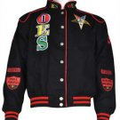 Order of the Eastern Star O.E.S Black Twill Race Jacket Sorority Jacket  S-5X