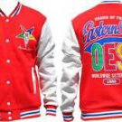 Order of the Eastern Star Jacket OES Sorority Red White Fleece Jacket S-4X