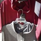 Maroon short sleeve hoodie Top Men's short sleeve hoodie shirt top M-2XL