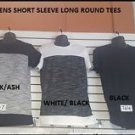 BLACK GRAY SLEEVE ROUND T-SHIRT EXTENDED CURVED HEM CASUAL w Zipper S-2X
