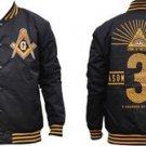 Freemason Masonic Mason Fraternity Light Weight Letterman Varsity Jacket M-5X
