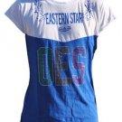 ORDER OF EASTERN STAR SHORT SLEEVE TEE RHINESTONE T- SHIRT OES WHITE TEE S-3X