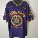 Omega Psi Phi Fraternity short sleeve football jersey 100 year Centennial Top